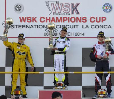 Il podio della finale KF Junior