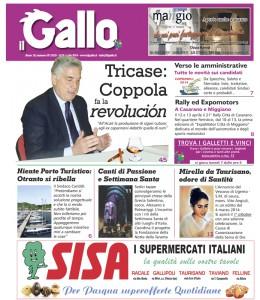 """La prima pagina de """"il Gallo"""" in distribuzione"""