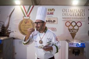 Daniele Cazzato di Alliste, vincitore delle Olimpiadi del Gelato Mediterraneo