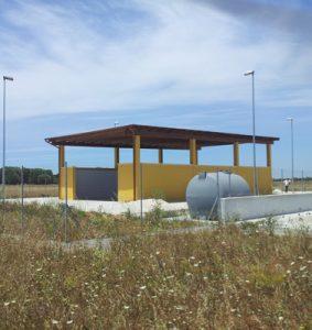 L'area di compostaggio in Località Corti Drusi