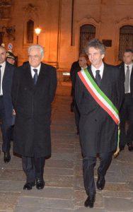 Il Capo dell Stato con il sindaco di Lecce