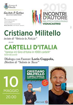 Cristiano MIlitello a Incontri d'Autore – locandina