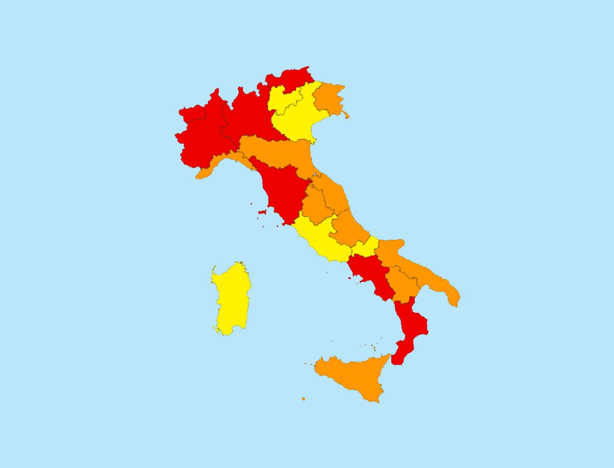 Covid, Puglia ancora arancione ma borderline